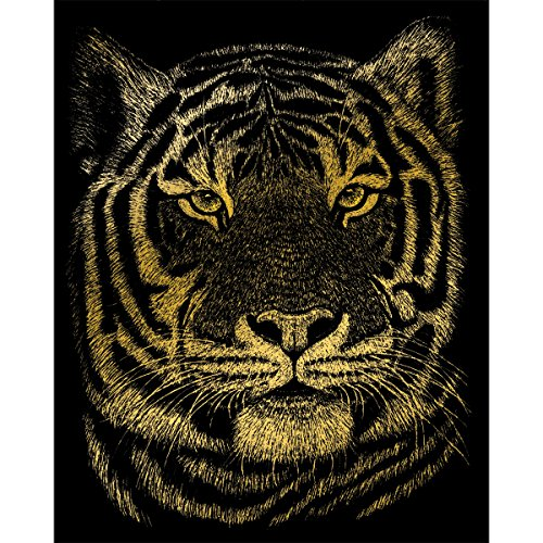 Royal and Langnickel Gold Engraving Art, Bengal Tiger