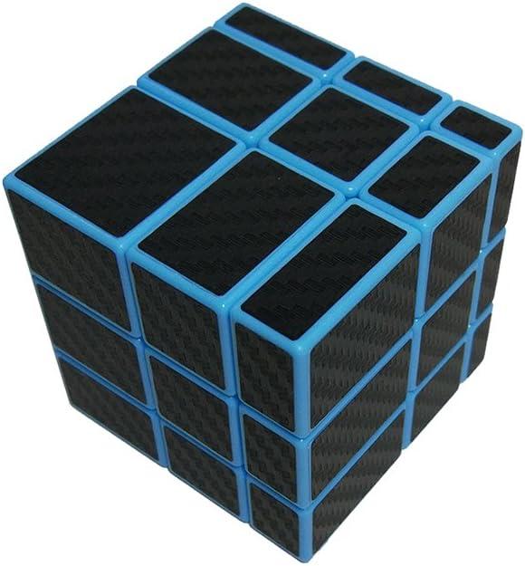 Bleu Lisse Cube Magique 3x3x3 In/égale Wings of wind Autocollant en Fibre de Carbone 3x3 Puzzle Cube
