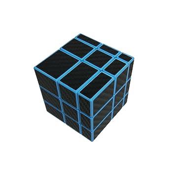b96db1d58b8471 Wings of wind - Smooth 3x3x3 Ungleicher Zauberwürfel, Carbon Fiber Sticker  3x3 Spiegel Puzzle Cube