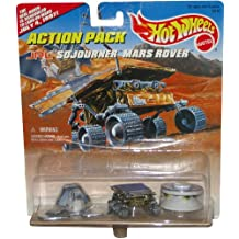 "JPL SOJOURNER MARS ROVER Hot Wheels Action Pack with ""The Real Rover is Schuduled to Land On Mars July 4, 1997!"" Limited Edition 1:64 Scale Die Cast Play Set"