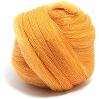 Calendula Arancione Giallo Merino lana Roving/Tops–50gm. Grande per feltro bagnato/ago feltro, e filatura progetti.