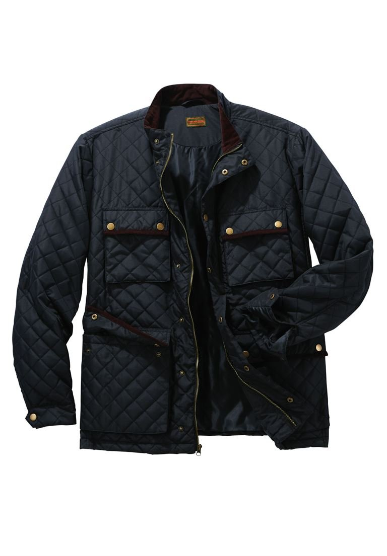 Boulder Creek Men's Big & Tall Quilted Jacket, Black Big-6Xl