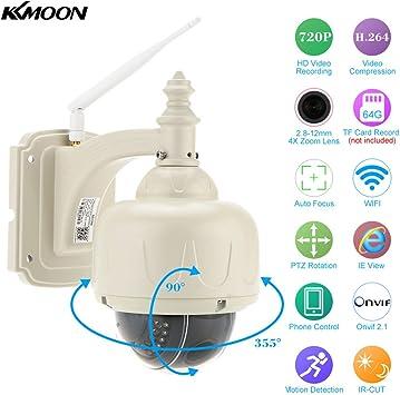 KKmoon 720P Wireless Wifi CCTV IP Camera Security Webcam Outdoor Night Vision IR