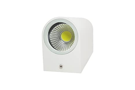 Applique led w bianco lampada luce calda parete plafoniera
