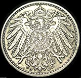 Imperial German -- 1913-G 5 Pfennig -- Very Fine Condition -- Scarce -- Only 1.22 Million Minted -- KARLSRUHE MINT