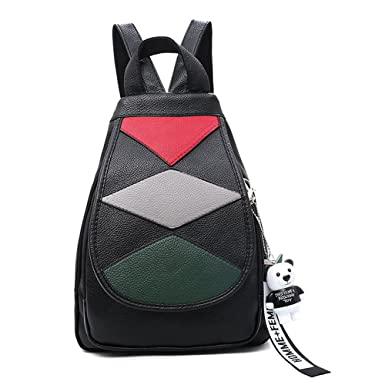 c202af0d0cc3 Image Unavailable. Image not available for. Colour  Mini Cute Backpack  Leparvi Girly Leather Day Packing Teen Satchel Luxury Designer Women Tote  Bag (