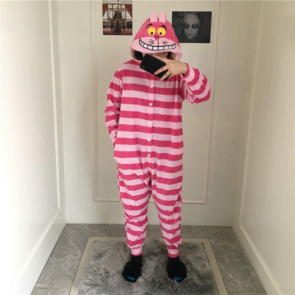 Sweetheart -LMM Christmas Stregatto Kigurumi in pile con cappuccio pigiama tutina animale Cosplay costume unisex adulto unisex tutina taglie forti, medium