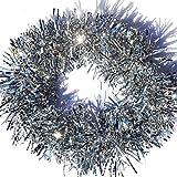 Rimobul Elegant Sparkly Hanging Tinsel Garland- 3 Pcs, 3.5 Inch x 6 Feet (Silver)
