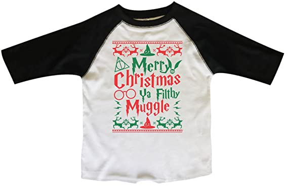 kids xmas 34 sleeves merry christmas ya filthy muggle harry potter toddler