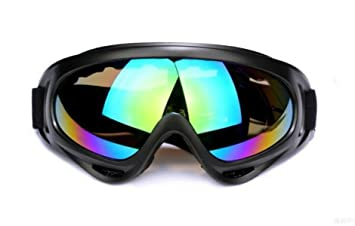 WDAKOWA Skifahren Spiegel Brille Reiten Outdoor-Sport Motorrad Anti-Sand Brille,E