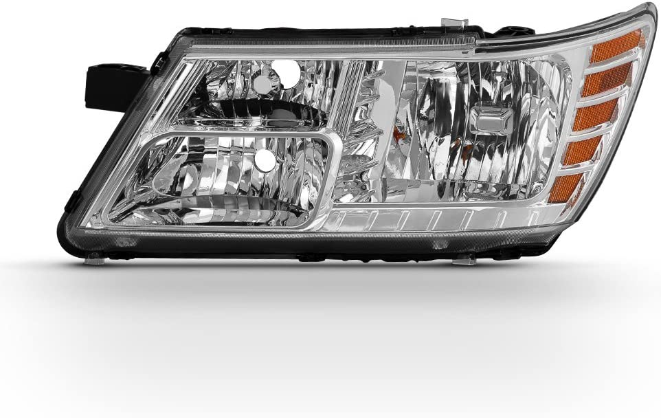 ACANII For 2009-2018 Dodge Journey Replacement Headlight Headlamp with Chrome Trim Driver Side Only