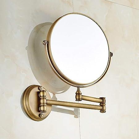 NAERFB Espejo de Maquillaje Extensible,antigüedades Espejo tocador de baño baño Lupa Plegable báscula de baño y Espejo de Belleza-B: Amazon.es: Hogar
