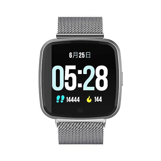 Reloj Inteligente con Android De La Llamada De La Tarjeta Bluetooth Reloj Contador De Pasos, Reloj Electrónico, Correa De Tela Negra: Amazon.es: Relojes