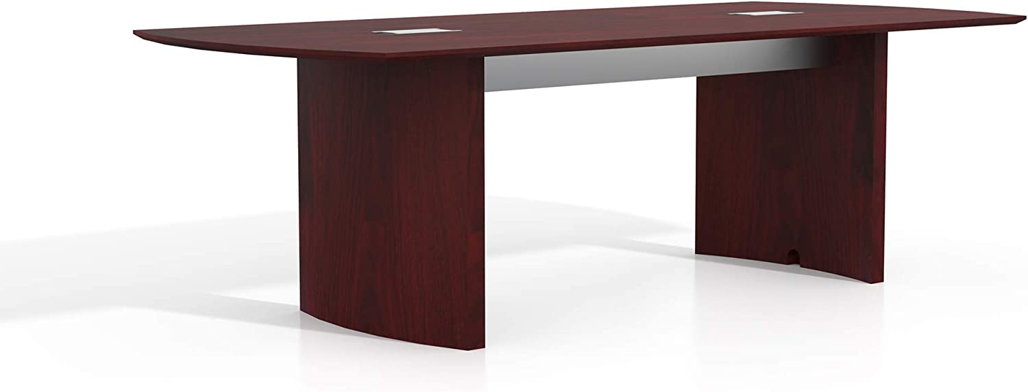 Safco Products Medina Modern Office Conference Meeting Room Table, 8', Mahogany