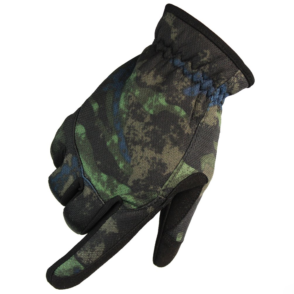 Men's Outdoor Gloves for Cycling Motorcycle hiking(Green Camouflage, Medium) FY