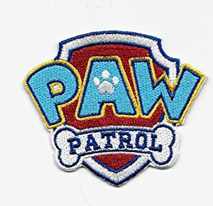 paw patrol embroidered iron on sew on patch everything else. Black Bedroom Furniture Sets. Home Design Ideas