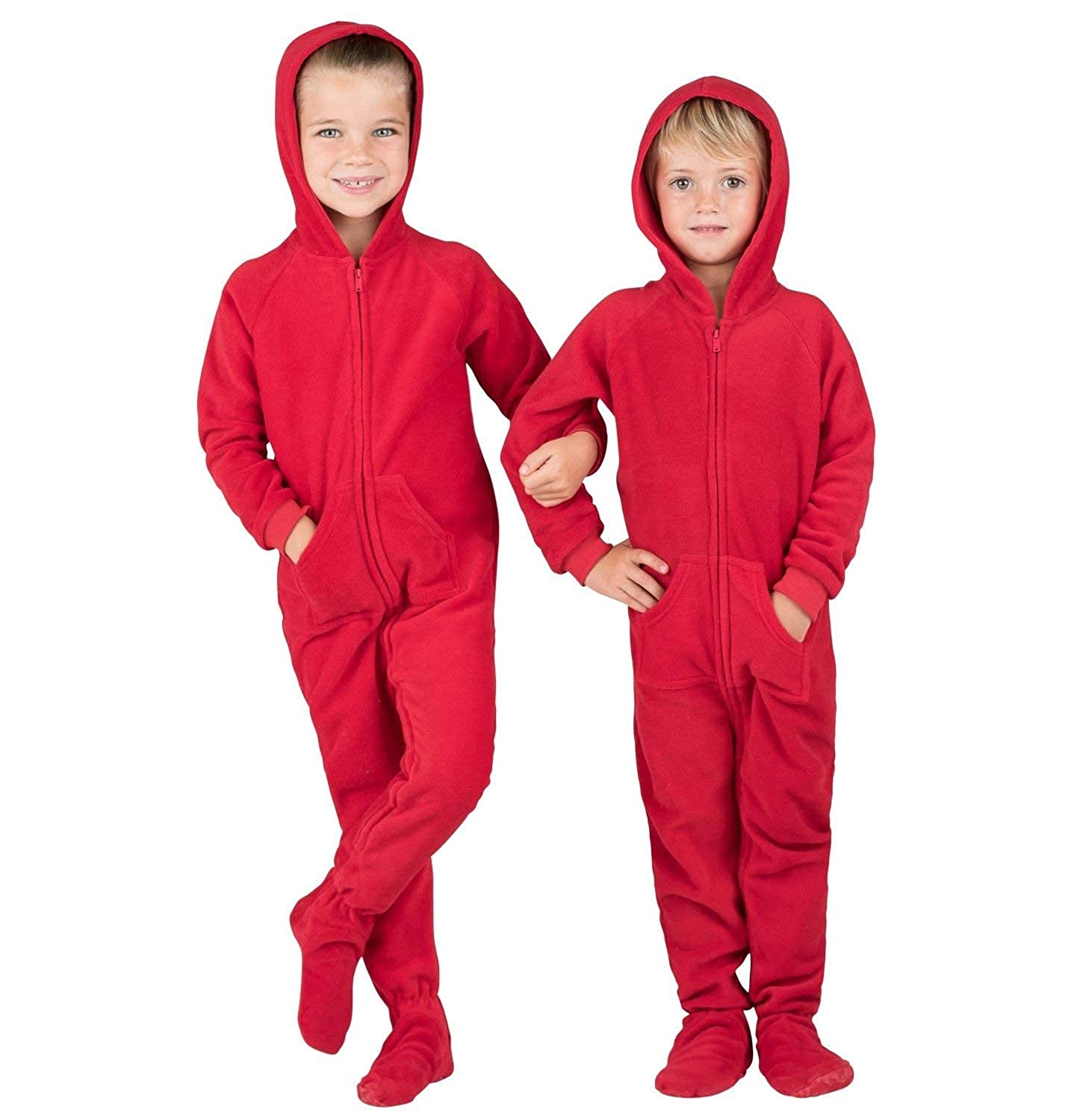 Girls Family Matching Chilli Red Hoodie Onesies for Boys Footed Pajamas Women and Pets Men