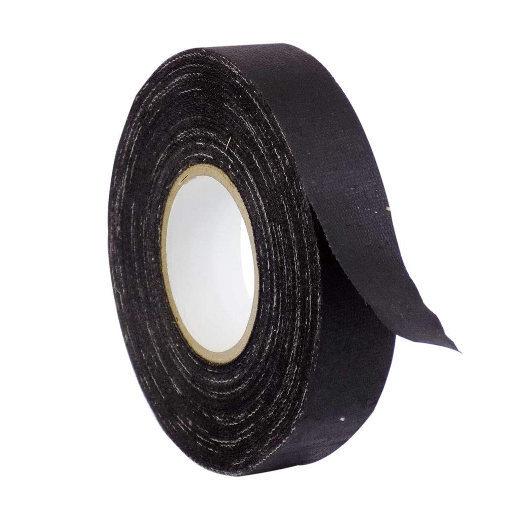 WOD CFT-15 Black Industrial and Electrical Harness Wiring Friction Tape - 3/4 in. X 60 ft. (Case of 100) Heat Proof Engine Compartment Wiring Tape for VW AUDI BMW (Available in Multiple Sizes)