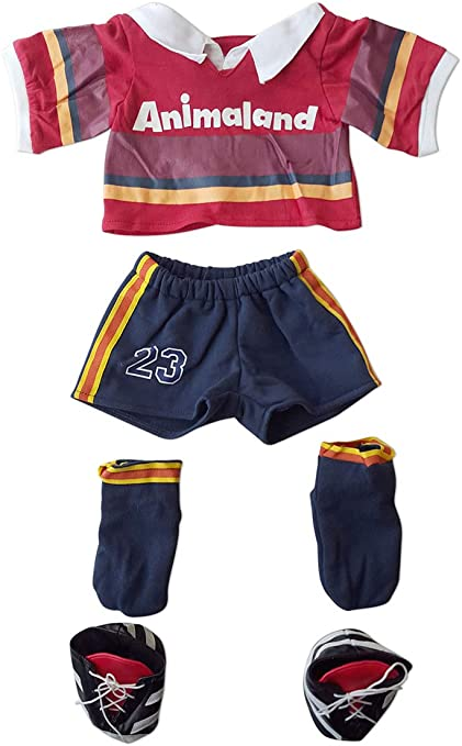 Amazon Com Rugby Outfit Fits Most 14 18 Build A Bear And Make Your Own Stuffed Animals Toys Games