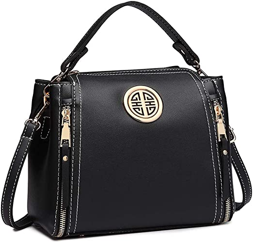 Miss Lulu Ladies Designer PU Leather Handbag Work Shoulder Bag Women Cross body