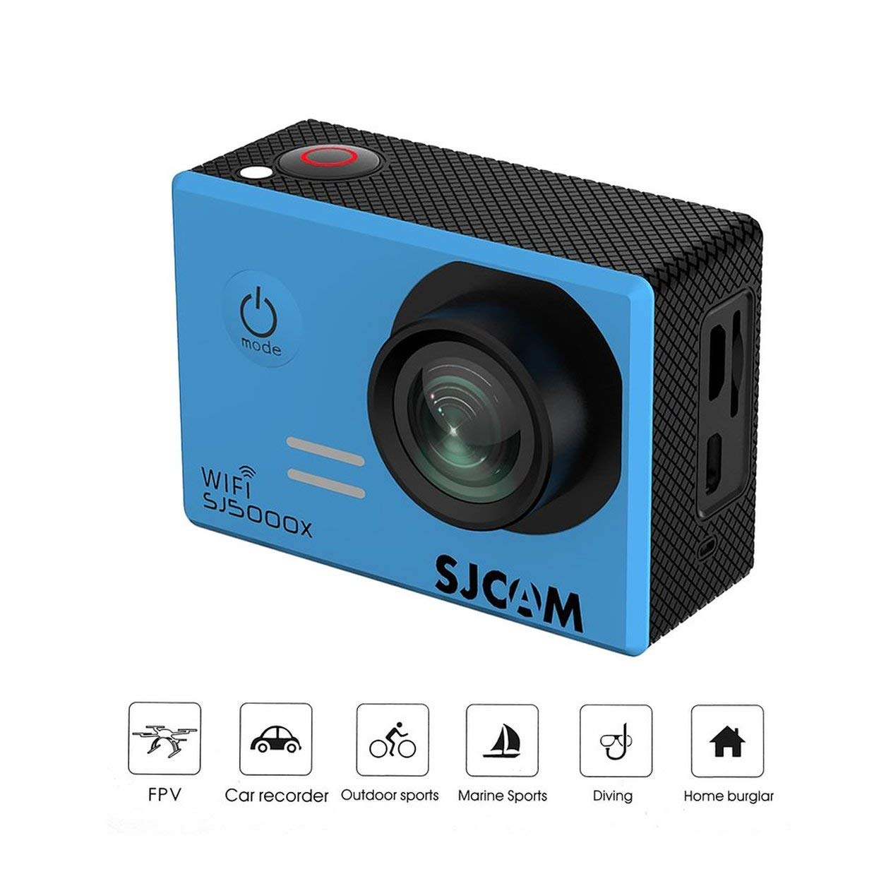 Saikogoods アクションカメラ 4K高画質 屋外用SJCAM SJ5000Xアクションスポーツカメラエリート水中ビデオカメラ30メートル防水カメラウルトラHD 4K 黒 B07KRJLGY3 青 青