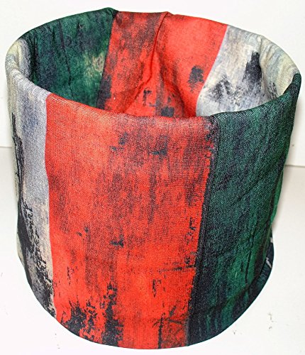 Brushed Rasta Stripe Red Green Black Grey Multi Function ACU Microfiber Headband Face Mask (Rasta Face)