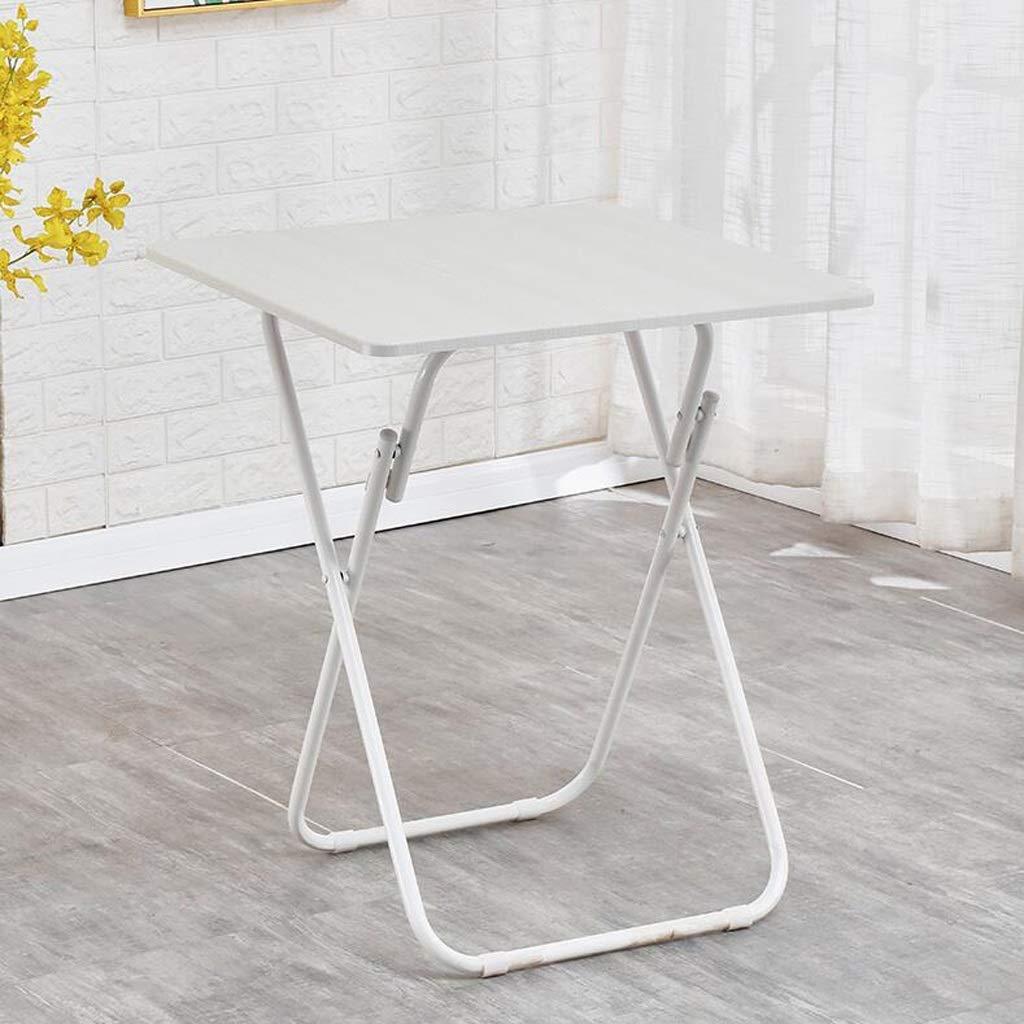家庭用折りたたみテーブルダイニングテーブル四人用ダイニングテーブルスクエアダイニングテーブル小型フラットシンプル家庭用ダイニングテーブル折りたたみテーブル,White,80*71cm B07SMS9BMV White 80*71cm