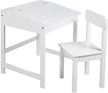 Roba - Atril escolar con silla, mesa de escritorio infantil, juego de silla, soporte con tablero plegable con amortiguadores para niños y niñas, con ranuras fresadas para colocar lápices: Amazon.es: Bebé