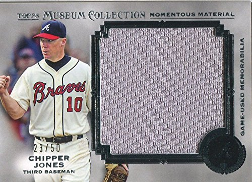 (Chipper Jones Unsigned 2013 Topps Museum Collection Jersey Card)