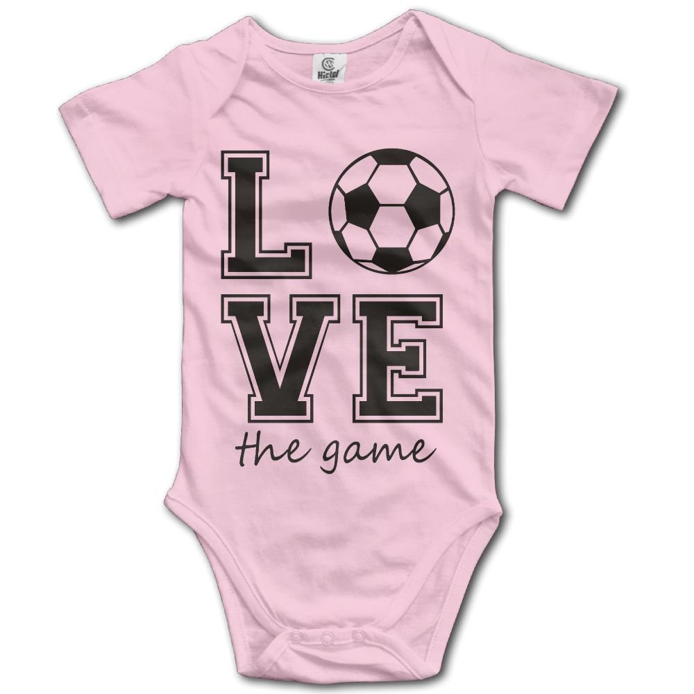 Jaylon Baby Climbing Clothes Romper Creative Football Love Infant Playsuit Bodysuit Creeper Onesies Pink