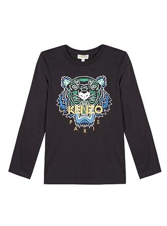6f5aa2a8f Kenzo Kids Boy's Tiger T-Shirt (Big Kids) Black 8A: Amazon.co.uk ...