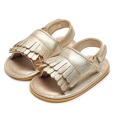 7d16f4c5c06f6 Baby Sandal Tassels Summer Toddler Slipper Shoes 0 6 12 18 Months (0-6