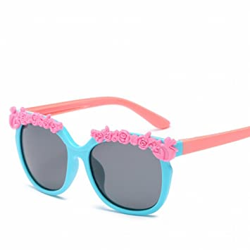 Silikon Kinder Blumen Cartoon Sonnenbrille Farbe Sonnenbrille Männer und Frauen , Tender Grüne Rahmen Grüne Beine