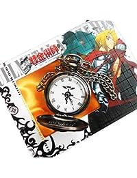 Anime Fullmetal Alchemist Edward Elric's Black Pocket Watch Cosplay
