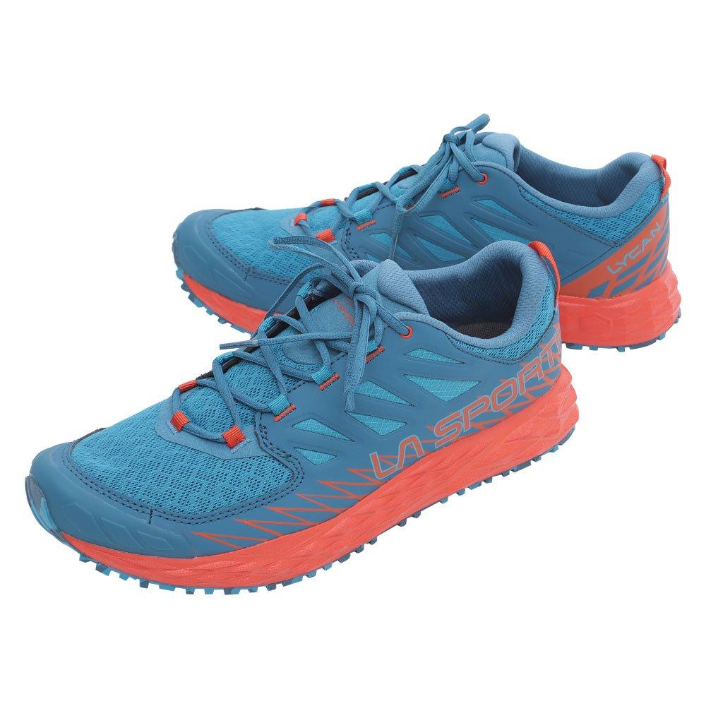 La Sportiva Lycan, Zapatillas de Trail Running para Hombre 47 EU|Multicolor (Tropic Blue / Tangerine 000)