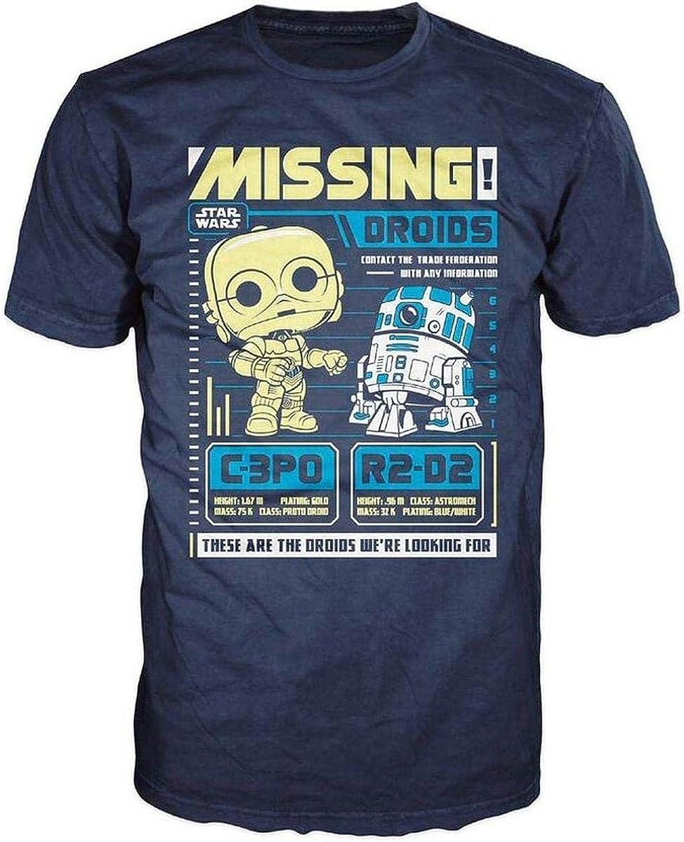 Funko Pop! Camisetas para hombre, diseño de Star Wars, C3po R2d2: Amazon.es: Ropa y accesorios