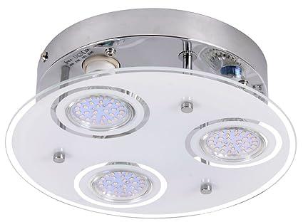 9W LED Deckenleuchte Deckenlampe Wohnzimmer Esszimmer Flur Lampe Leuchte  Globo 48966 3