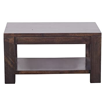 Altavista Luna Solid Wood Coffee Table (Brown)