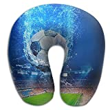 Neck Pillow With Resilient Material Water Soccer Stadium U Type Travel Pillow Super Soft Cervical Pillow