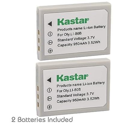 Amazon.com: Kastar Batería (2-Pack) para Olympus LI-80B y ...