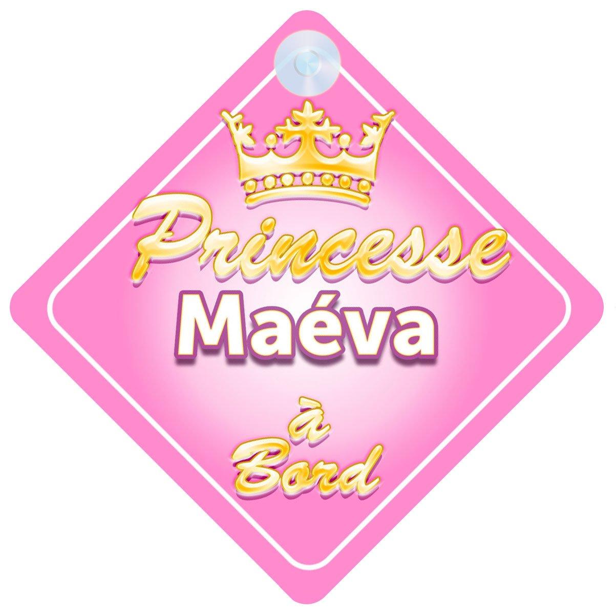 Couronne Princesse Maéva Signe Pour Voiture Enfant/Bébé à Bord Quality Goods Ltd