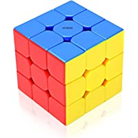 AVS Retail Plastic High Stability Stickerless - 3X3X3 Speed Cube with Adjustable Tightness (Multicolour)