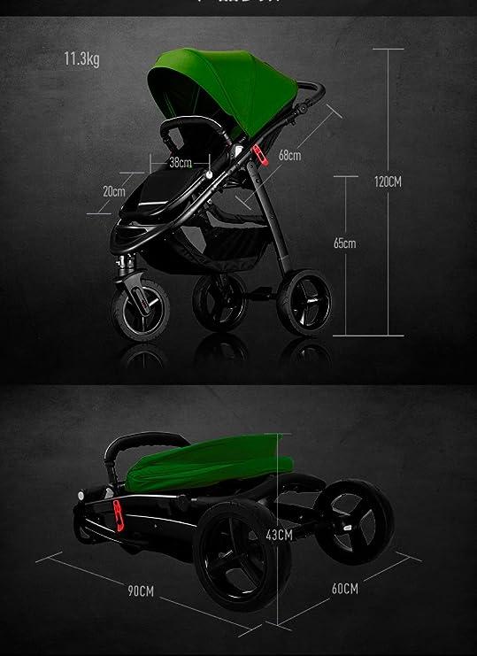Star Ibaby All Road - Cochecito de bebe, color Black