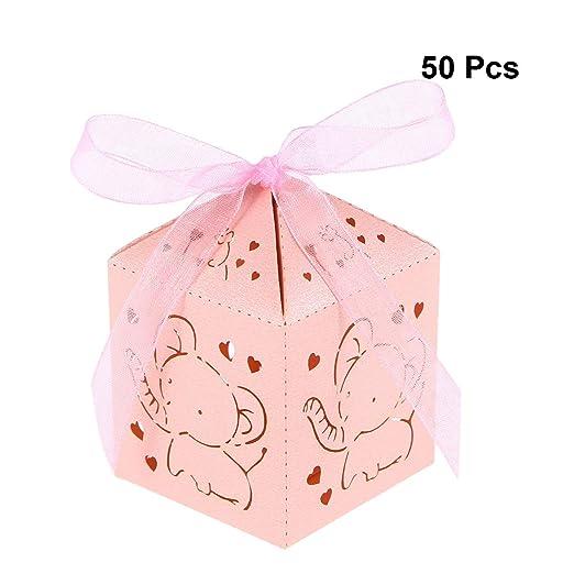 50 cajas de regalo de cumpleaños con diseño de elefante en ...