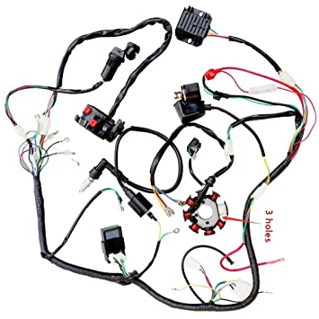 Amazon.com: ZXTDR Complete Wiring Harness kit Wire loom ... on