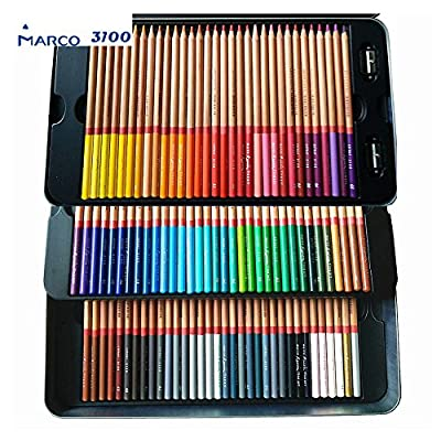 Egoshop Marco Renior Oil Based Colored Pencils, Metal Tin