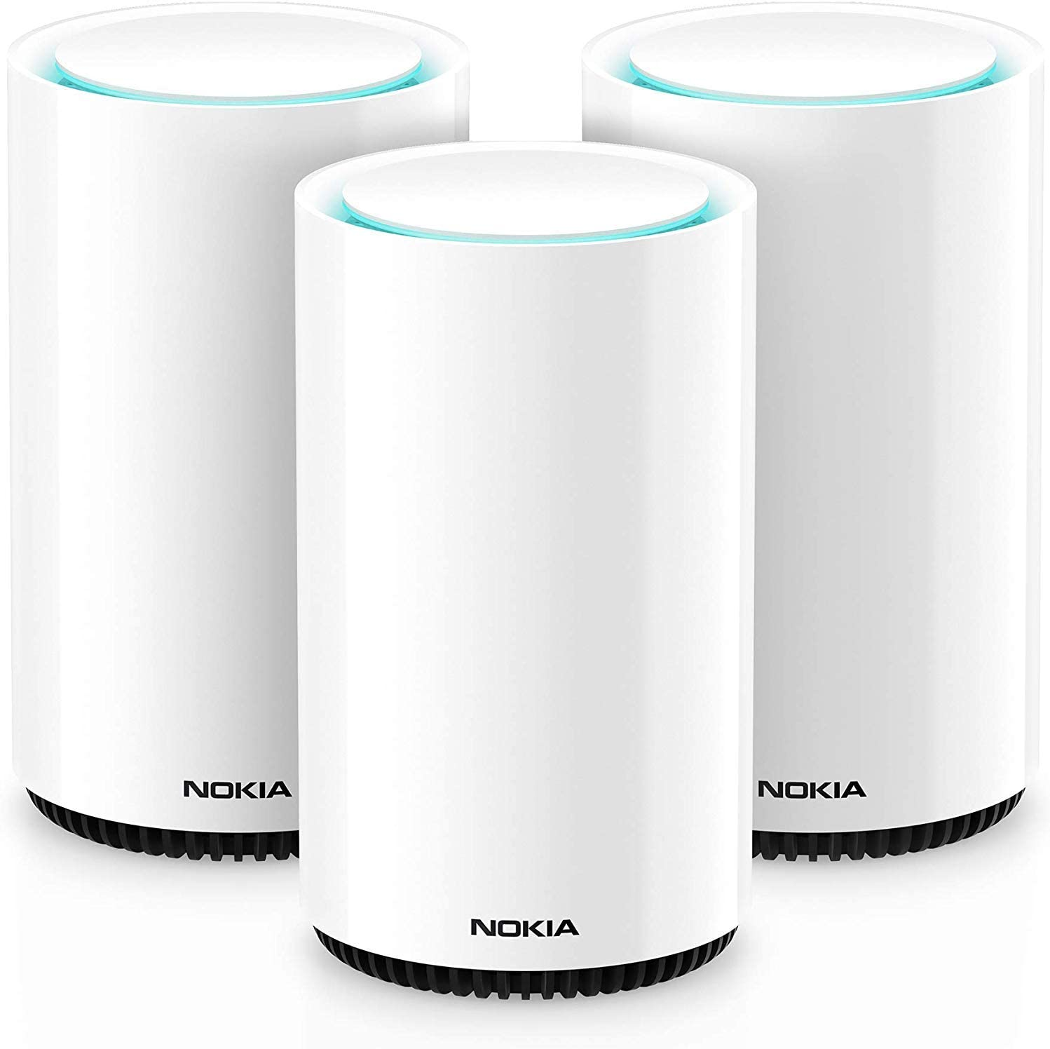 Nokia WiFi Beacon 3 Mesh Router System - Intelligent, Seamless Whole Home WiFi Coverage Extender - Connect Your Whole House WiFi Network, Ultra Fast Self-Healing Mesh Router System – Trio (3-Pack)