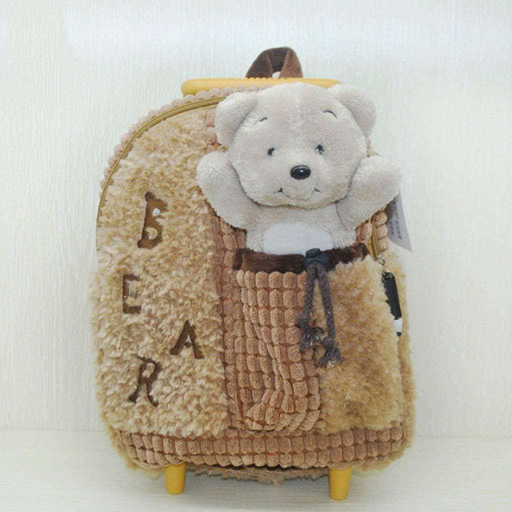 Ly-lgb Childrens Trolley Bag Kindergarten Shoulder Bag Baby Travel Backpack Plush Toys