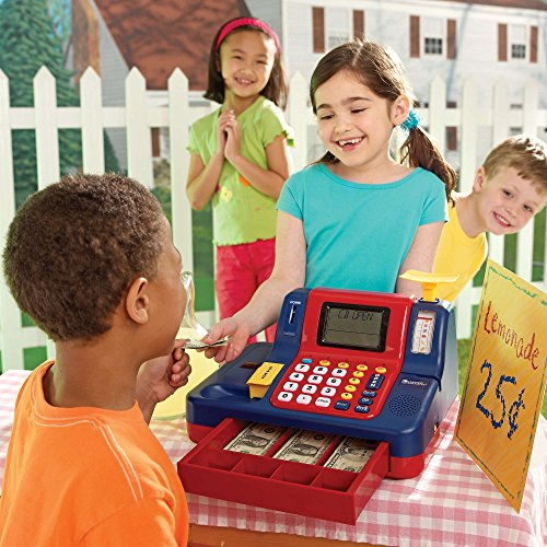 61O4GWPFk1L - Learning Resources Pretend & Play Teaching Cash Register [Standard Packaging]