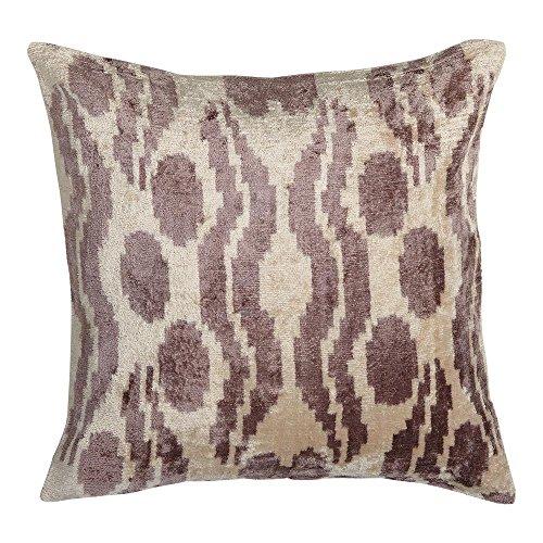 - Ethan Allen Silk Velvet Pillow, Smoky Rose